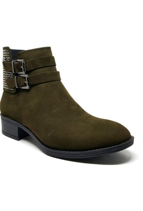 Shop and Shoes Bayan Bot Haki Süet 171-503