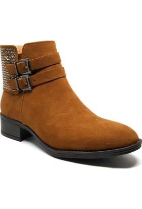 Shop and Shoes Bayan Bot Taba Süet 171-503