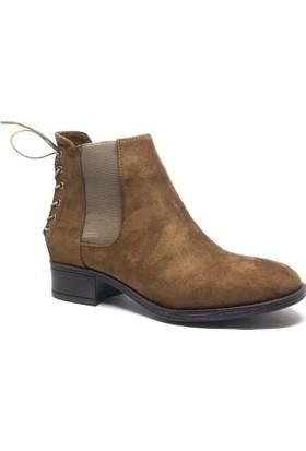 Shop and Shoes Bayan Bot Kahverengi Süet 171-504