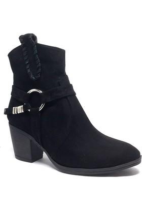 Shop and Shoes Bayan Bot Siyah Süet 171-604
