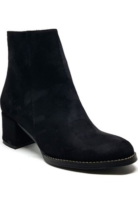 Shop and Shoes Bayan Bot Siyah Süet 172-300