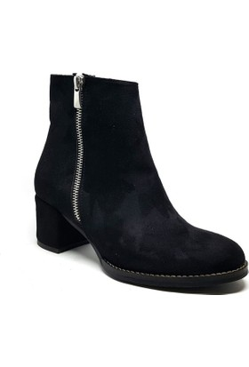 Shop and Shoes Bayan Bot Siyah Süet 172-310