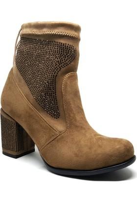 Shop and Shoes Bayan Bot Vizon Süet 173-11950-T