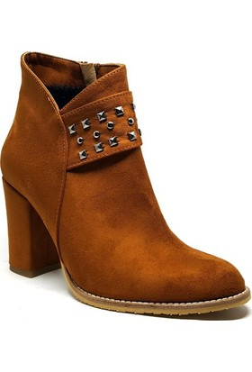 Shop and Shoes Bayan Bot Taba Süet 173-121101
