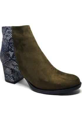 Shop and Shoes Bayan Bot Haki Süet 173-20404
