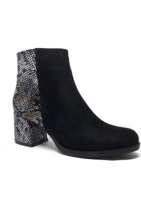 Shop and Shoes Bayan Bot Siyah Süet 173-20404