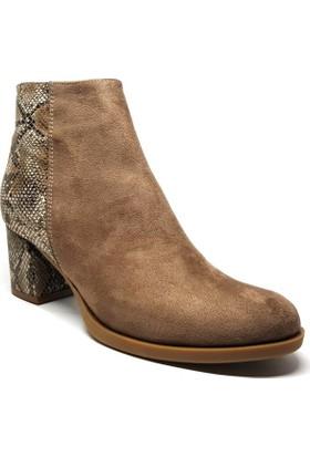 Shop and Shoes Bayan Bot Vizon Süet 173-20404
