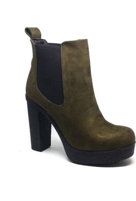 Shop and Shoes Bayan Bot Haki Süet 173-20803