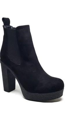 Shop and Shoes Bayan Bot Siyah Süet 173-20803