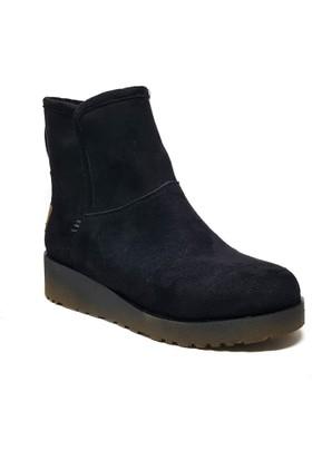Shop and Shoes Bayan Bot Siyah Süet 190-200