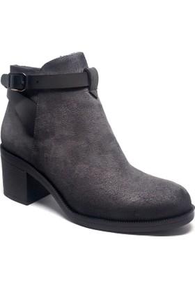 Shop and Shoes Bayan Bot Gri Süet 190-403