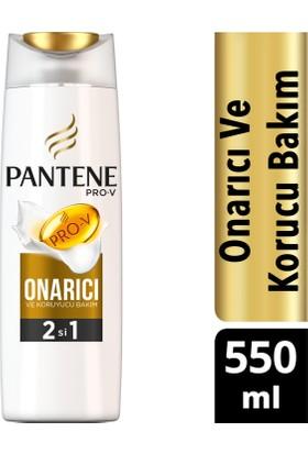 Pantene 2'si 1 Arada Şampuan ve Saç Bakım Kremi Onarıcı ve Koruyucu Bakım 550 ml