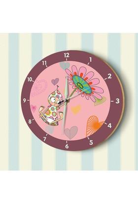 DekorLoft Fosforlu Çocuk Odası Duvar Saati YFS-1416