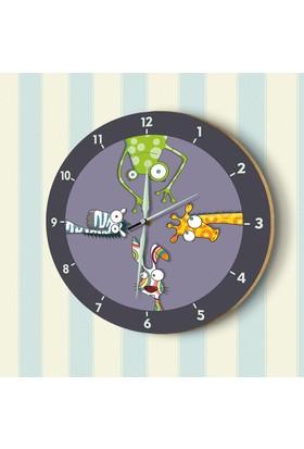 DekorLoft Fosforlu Çocuk Odası Duvar Saati YFS-1420