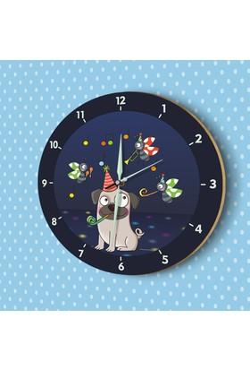 DekorLoft Fosforlu Çocuk Odası Duvar Saati YFS-1421