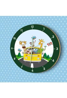 DekorLoft Fosforlu Çocuk Odası Duvar Saati YFS-1427