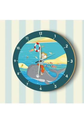 DekorLoft Fosforlu Çocuk Odası Duvar Saati YFS-1428