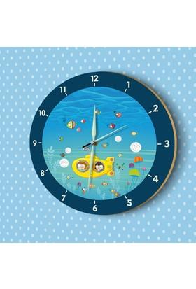 DekorLoft Fosforlu Çocuk Odası Duvar Saati YFS-1430
