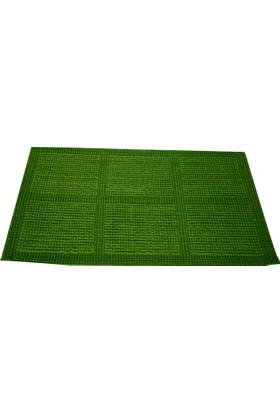 Bahat Jüt Örgü Kapı Önü Paspası Yeşil 45*75 cm