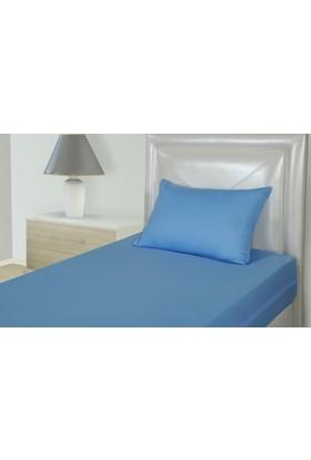 Akomp Polyester Anti Alerjik-Anti Bakteriyel Yorgan Koruyucu Kılıf 135x200 Mavi