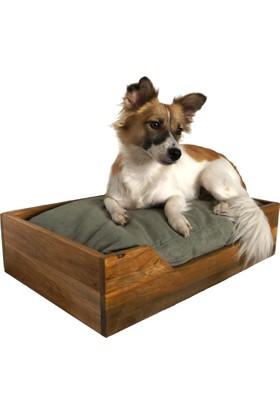 Hurdahane Ahşap Kedi/Köpek Yatağı - Small Ky0101-Y Yeşil