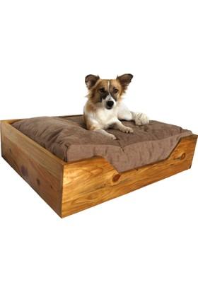 Hurdahane Ahşap Köpek Yatağı - Medium