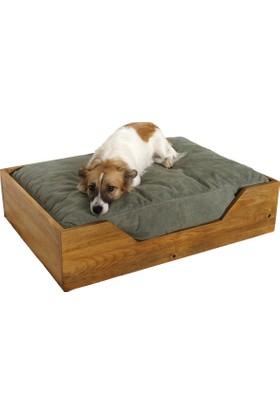 Hurdahane Ahşap Köpek Yatağı - Medium Ky0102-Y Yeşil