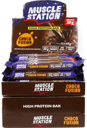 Musclestation 12li Protein Bar (Whey & Casain) Choco Fusion