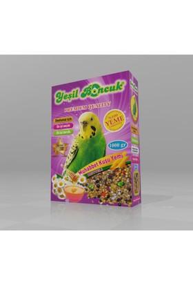 Yeşil Boncuk Muhabbet Kuş Yemi 1000 Gr