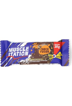 Musclestation 65gr Protein Bar (Whey & Casain) Choco Fusion