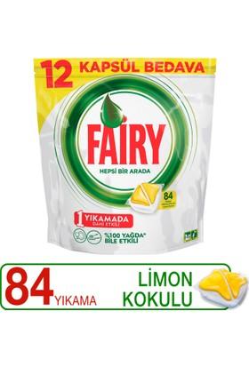 Fairy Hepsi Bir Arada Bulaşık Makinesi Deterjanı Kapsülü Limon Kokulu 84 Yıkama
