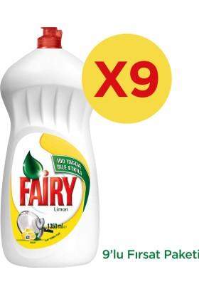 Fairy Sıvı Bulaşık Deterjanı Limon 1350 ml 9'lu