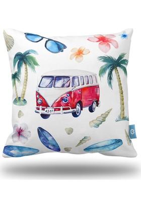 Bc Home Hawai Dekoratif Yastık / Kırlent Dolgulu