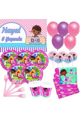 Disney 8 Kişilik Doktor McStuffins Parti Seti + İsimli Afiş