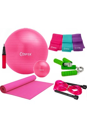 Cosfer Pilates Seti New Model 65 cm PilatesTop & 120 cm Pilates Lastiği