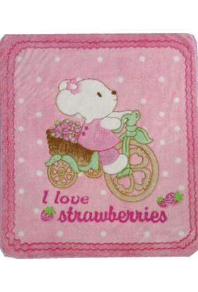 Welsoft Bebek Battaniyesi Bisiklet Desenli