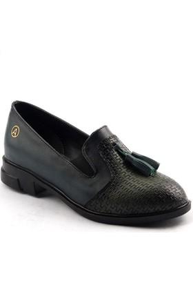 Ayakland 131 Fiyonklu Bayan Babet Ayakkabı