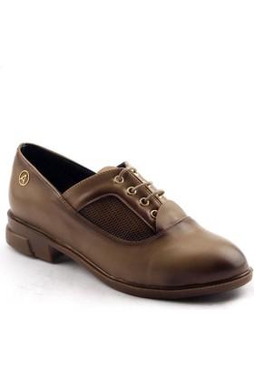 Ayakland 129 Bağcıklı Bayan Babet Ayakkabı