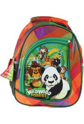 Erdem Çanta Wildwood Panda Simli Anaokulu Çantası Turuncu