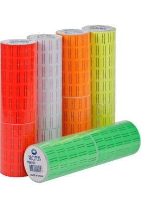 Proteks Fiyat Et. M. Etiketi 600Lü Fosforlu Kırmız 10 Adet