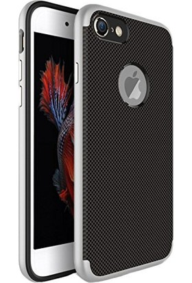 Case 4U Apple iPhone 6 Plus/6S Plus Hybrid Korumalı İnce Arka Kapak Gümüş