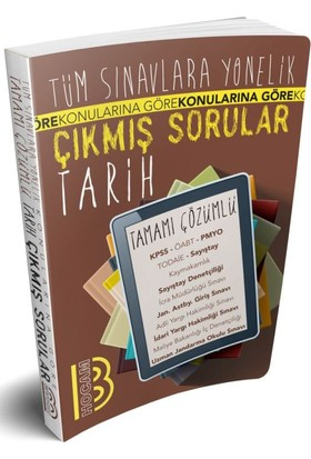 Benim Hocam Yayınları Tüm Sınavlara Yönelik Tamamı Çözümlü Tarih Çıkmış Sorular