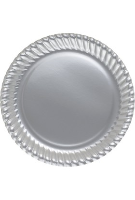PartiBulutu Gümüş Karton Tabak 8'li