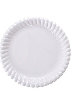 PartiBulutu Beyaz Karton Tabak 18 cm 25'li
