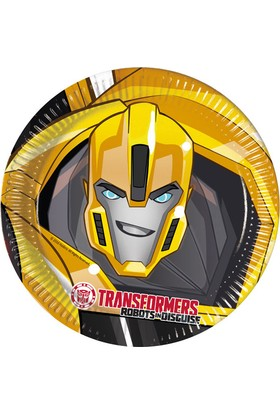 PartiBulutu Transformers Karton Tabak 23 cm 8'li