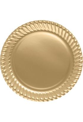 PartiBulutu Altın Karton Tabak 8'li