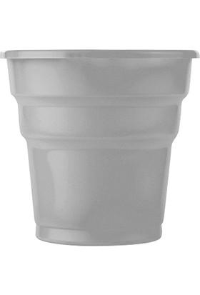 PartiBulutu Gümüş Plastik Meşrubat Bardağı 10'lu