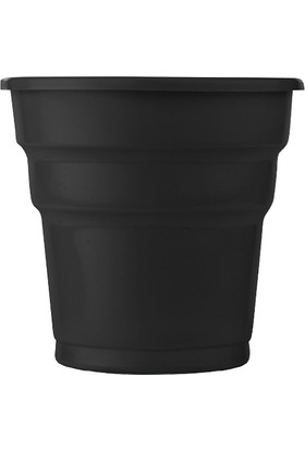 PartiBulutu Siyah Plastik Meşrubat Bardağı 10'lu