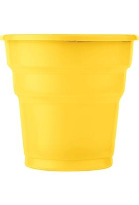 PartiBulutu Sarı Plastik Meşrubat Bardağı 10'lu