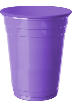 PartiBulutu Lila Plastik Büyük Meşrubat Bardağı 8'li